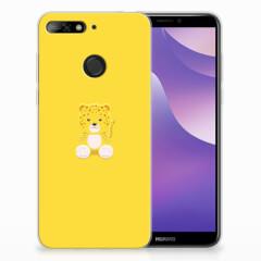 Huawei Y6 (2018) Telefoonhoesje met Naam Baby Leopard