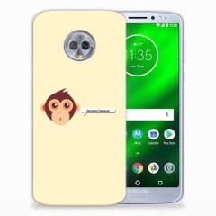Motorola Moto G6 Plus Telefoonhoesje met Naam Monkey