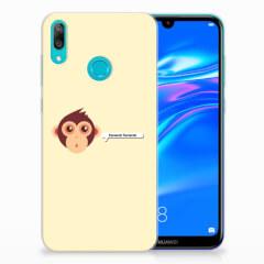 Huawei Y7 2019 Telefoonhoesje met Naam Monkey