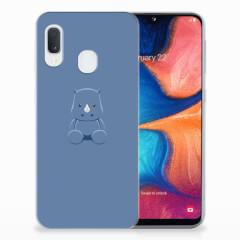 Samsung Galaxy A20e Telefoonhoesje met Naam Baby Rhino