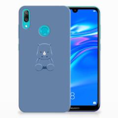 Huawei Y7 2019 Telefoonhoesje met Naam Baby Rhino