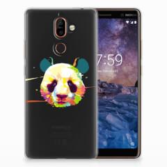 Nokia 7 Plus Telefoonhoesje met Naam Panda Color