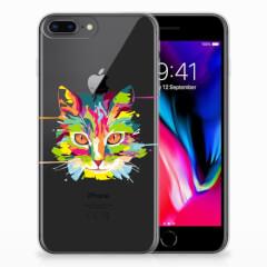 Apple iPhone 7 Plus | 8 Plus Telefoonhoesje met Naam Cat Color