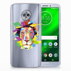 Motorola Moto G6 Plus Telefoonhoesje met Naam Lion Color