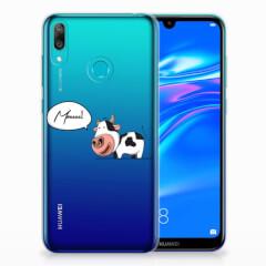 Huawei Y7 2019 Telefoonhoesje met Naam Cow