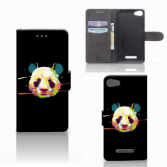 Wiko Lenny 2 Leuk Hoesje Panda Color