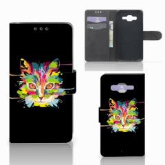 Samsung Galaxy J5 (2015) Leuk Hoesje Cat Color