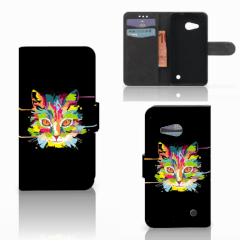 Microsoft Lumia 550 Leuk Hoesje Cat Color