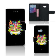 HTC U11 Leuk Hoesje Cat Color