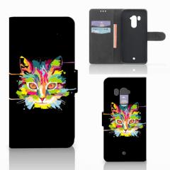 HTC U11 Plus Leuk Hoesje Cat Color
