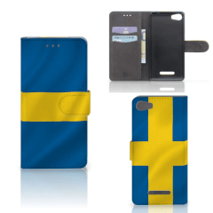 Wiko Lenny 2 Bookstyle Case Zweden