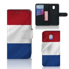 Samsung Galaxy J3 (2018) Bookstyle Case Nederlandse Vlag