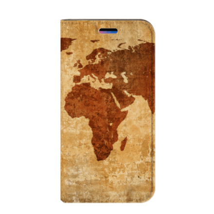 Apple iPhone X | Xs Book Cover Wereldkaart