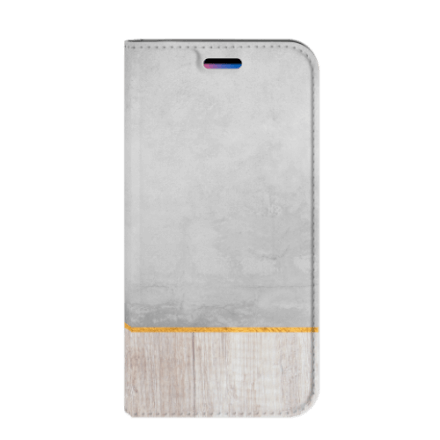 Apple iPhone X | Xs Book Wallet Case Wood Concrete